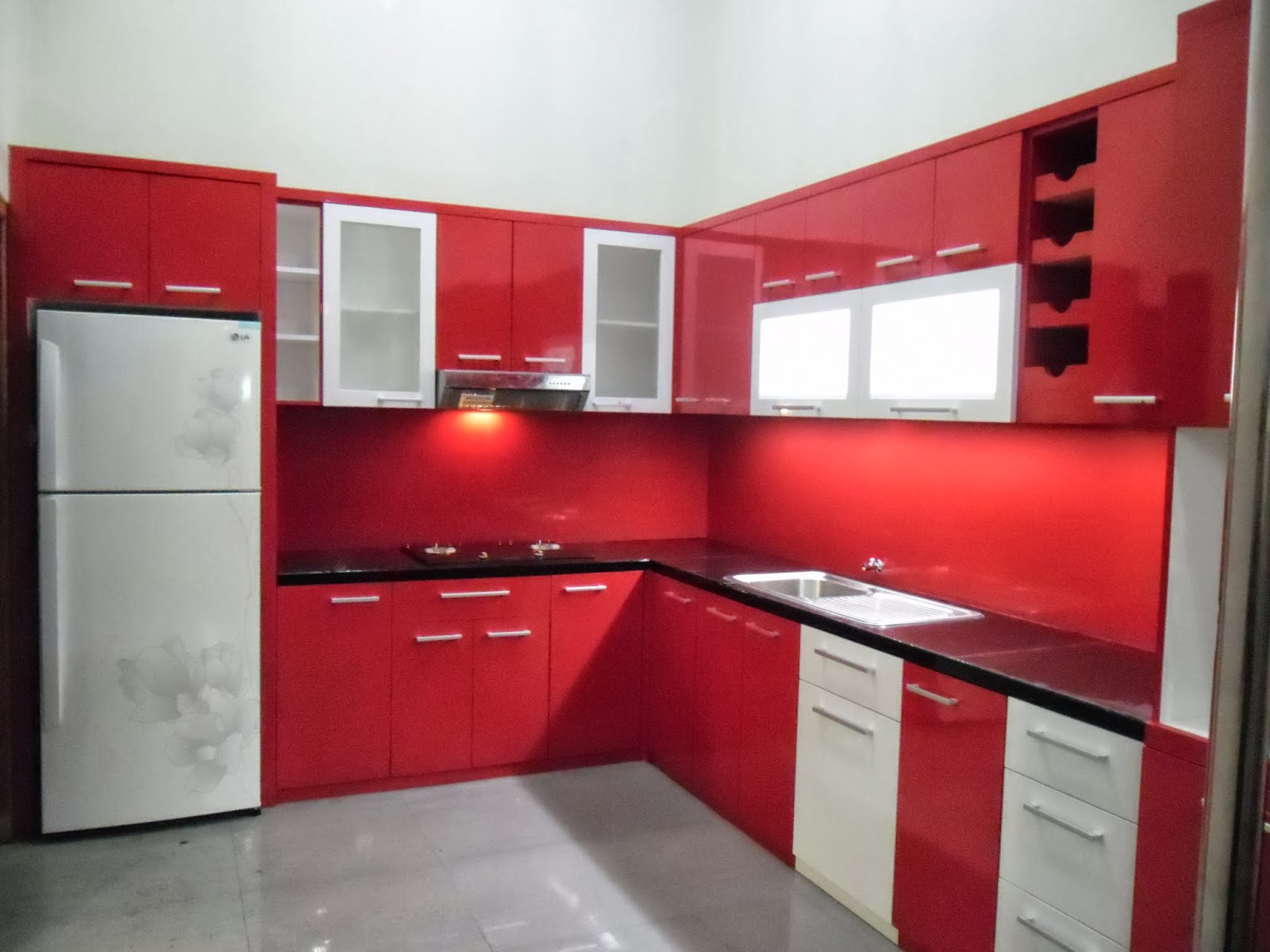 Modern kitchen sets for Harga paket kitchen set minimalis
