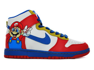 detailed look 7a1fa 48311 Nike Dunks super mario High for women Red White Blue