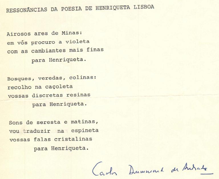 POEMAS DO CARLOS DRUMMOND DE ANDRADE