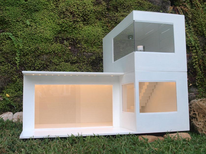 Miniaturas modernas la casa de pau for Casa moderna maqueta