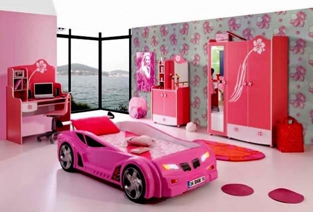 Habitaciones para niñas en color rosa 9