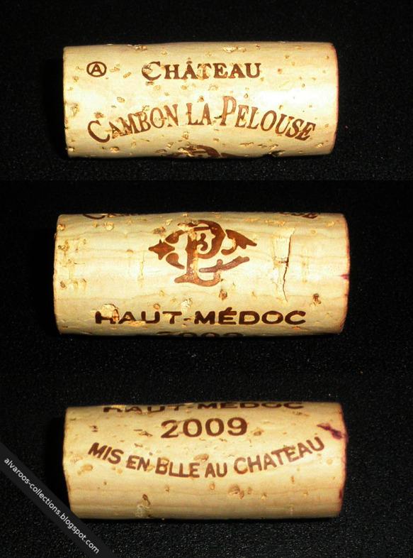 Wine cork: Chateau Cambon la Pelouse Haut Medoc 2009