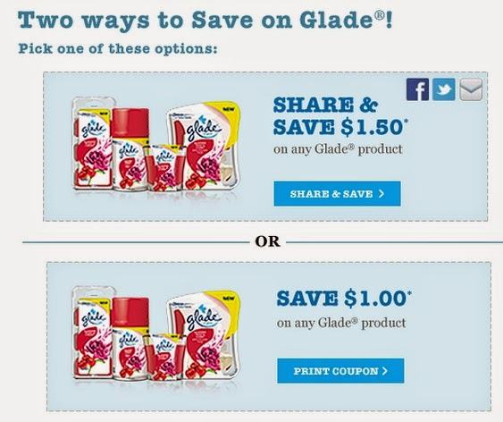 Glade coupons online