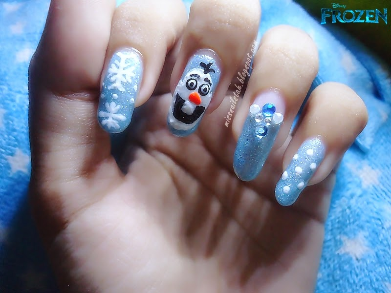 ♥ CC\'s NAILS ♥: Olaf Nail Art Inspired By Disney Frozen