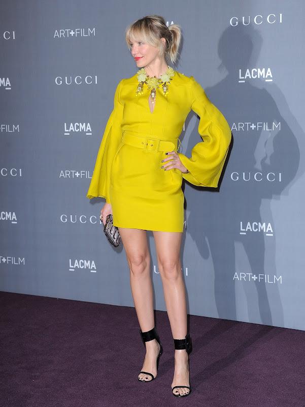 Cameron Diaz wearing a bright yellow dress