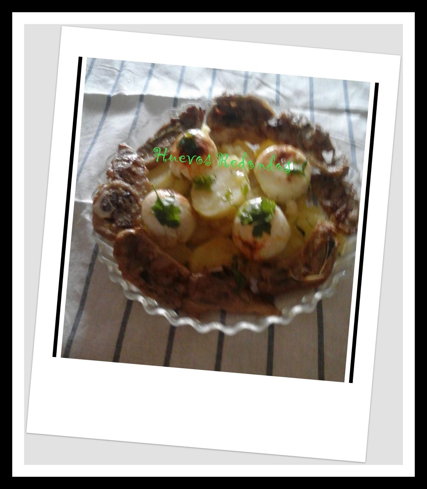Huevos Redondos con patatas