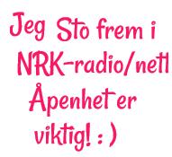 Sto åpent frem i NRK kanal