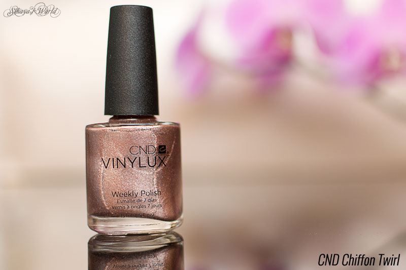 oja rose gold cnd chiffon twirl swatch