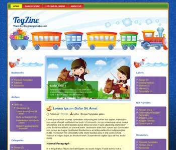 ToyZine Blogger Template. free automotive blogger template