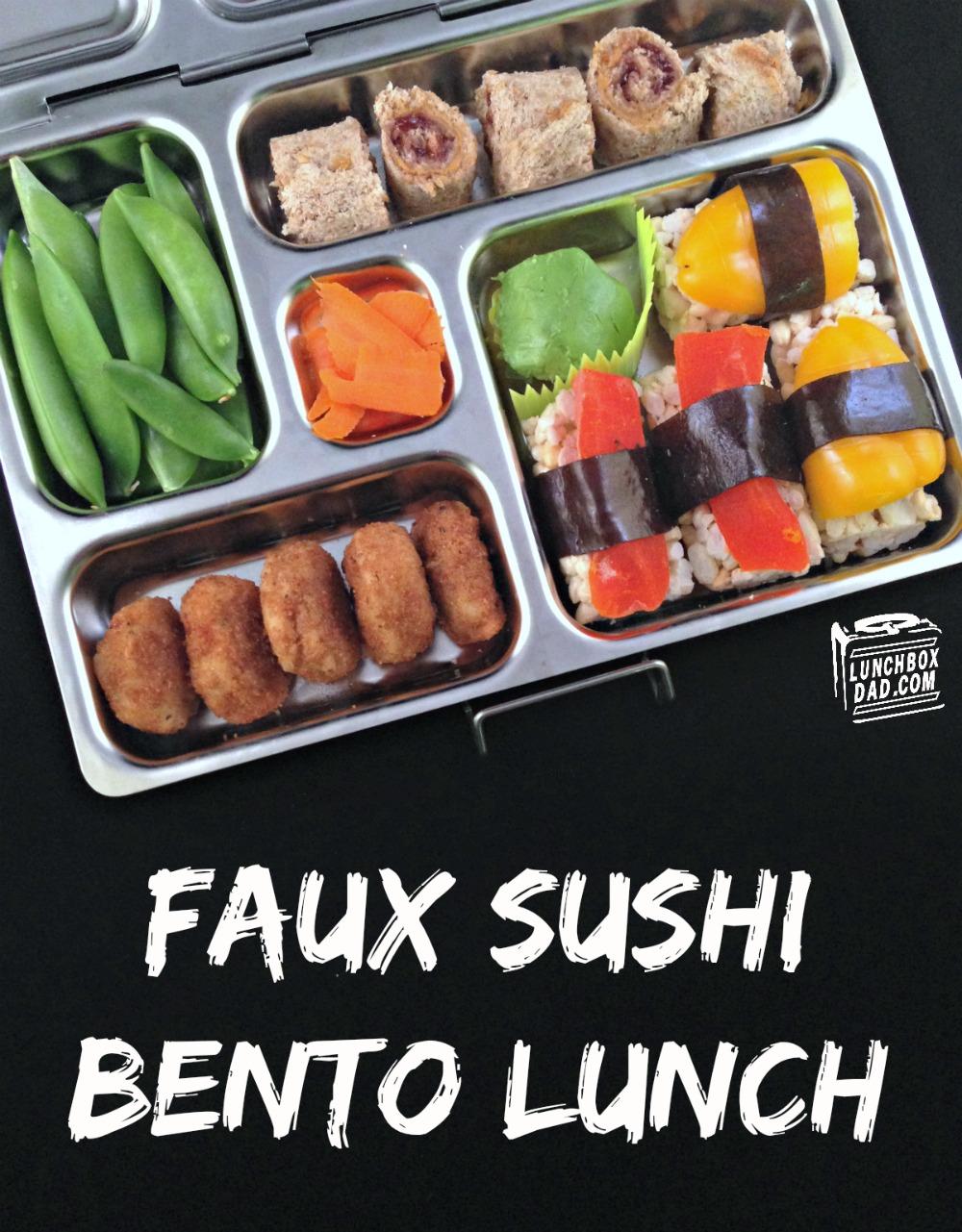 Faux Sushi Bento Lunch