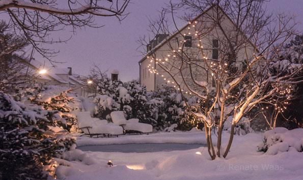 Licht im Garten ist im Winter besonders wichtig - nicht nur an Weihnachten