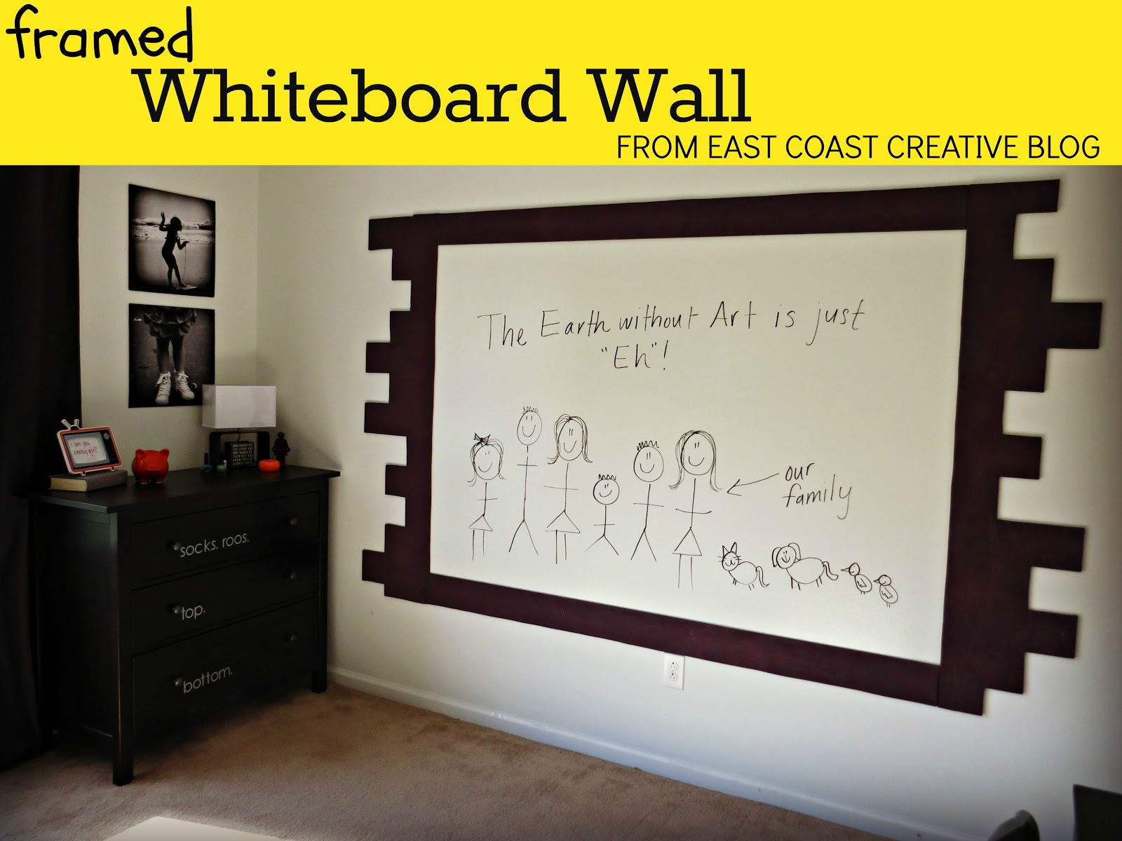 how to paint a whiteboard wall - Dry Erase Board Paint