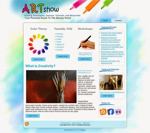 Art Show - Free Drupal Theme