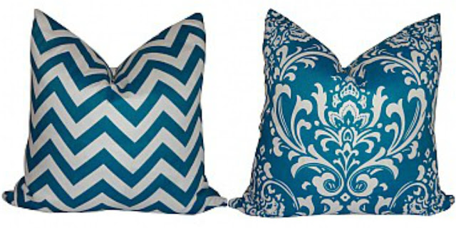 teal outdoor pillows