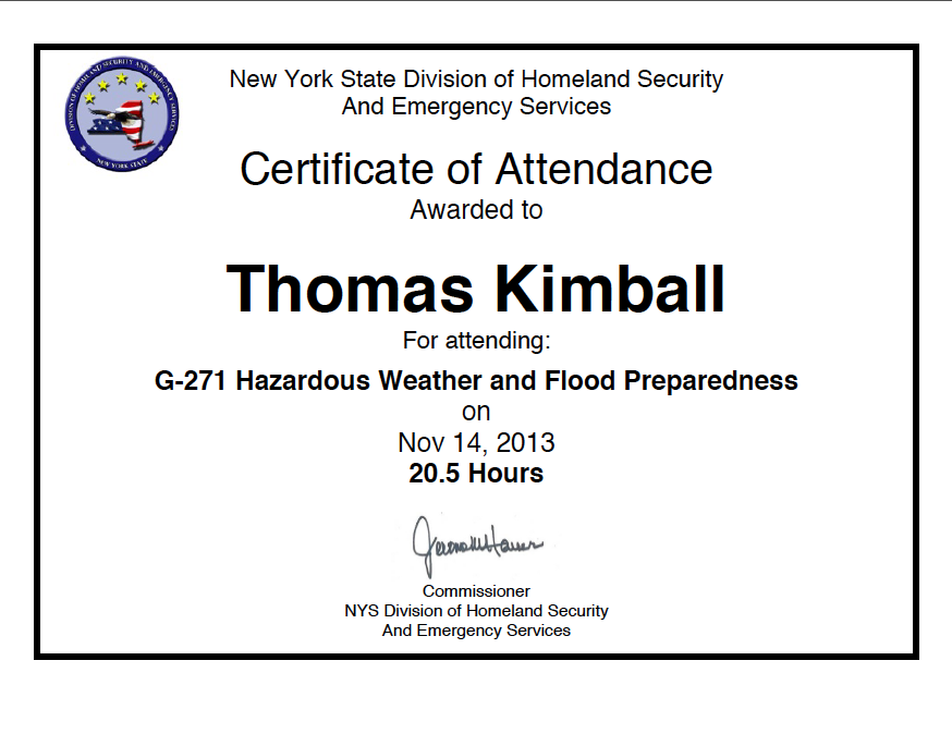 Thomas Kimball G-271  Hazardous Weather and Flooding Preparedness