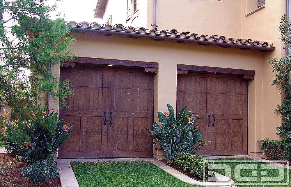 Spanish Custom Garage Door Ideas