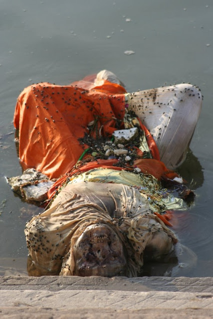 Dead Body at Ganges River