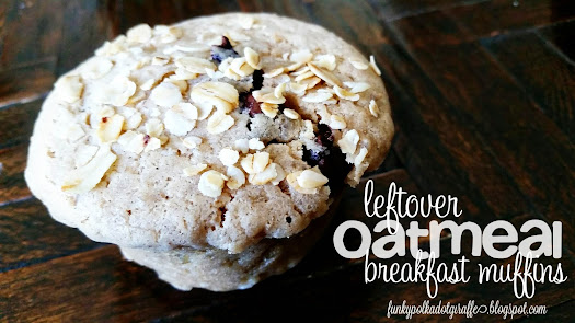 leftover oatmeal breakfast muffins