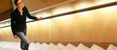 subir escada