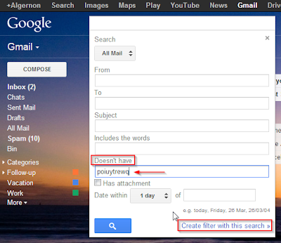 how to create mail rules in gmail