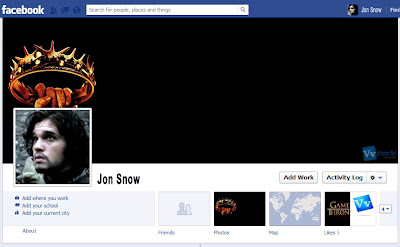 Game of Thrones Facebook Cover Sample Preview