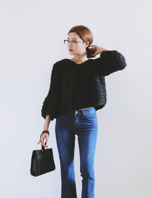 Balloon Sleeve Knit Pullover