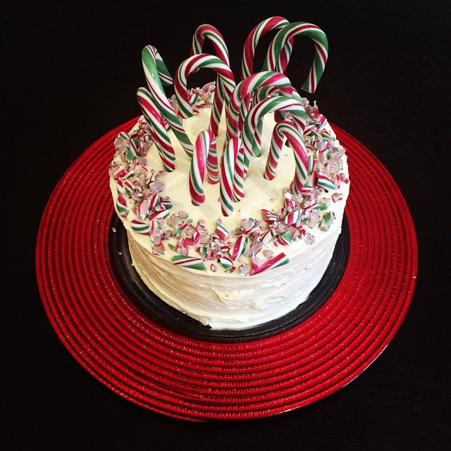 candy cane cake >> STARTS WITH CUPCAKES