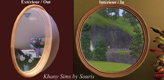 My sims 3 blog porthole window by souris for Fenetre hublot