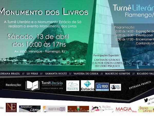 Evento literário no Rio de Janeiro: Monumento dos livros