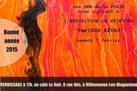 vernissage Exposition papiers reves