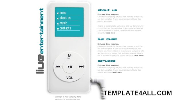 Free Flash Ipod Design Gray Web2.0 Website Template