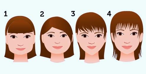 Rosto Quadrado: Fica bem com qualquer tipo de franja... Rosto Redondo: Cuidado com a franja reta e curta, pois ela cria volume...