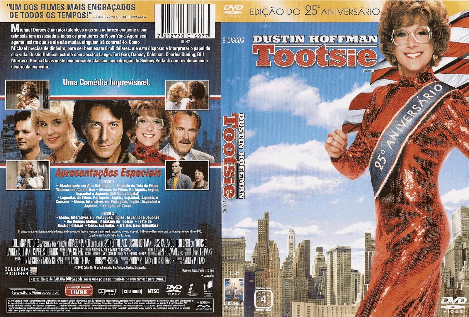 Capa DVD Tootsie Edição do 25º Aniversário
