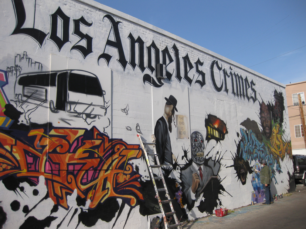 Eclectix arts los angeles crimes street art for Painting in los angeles
