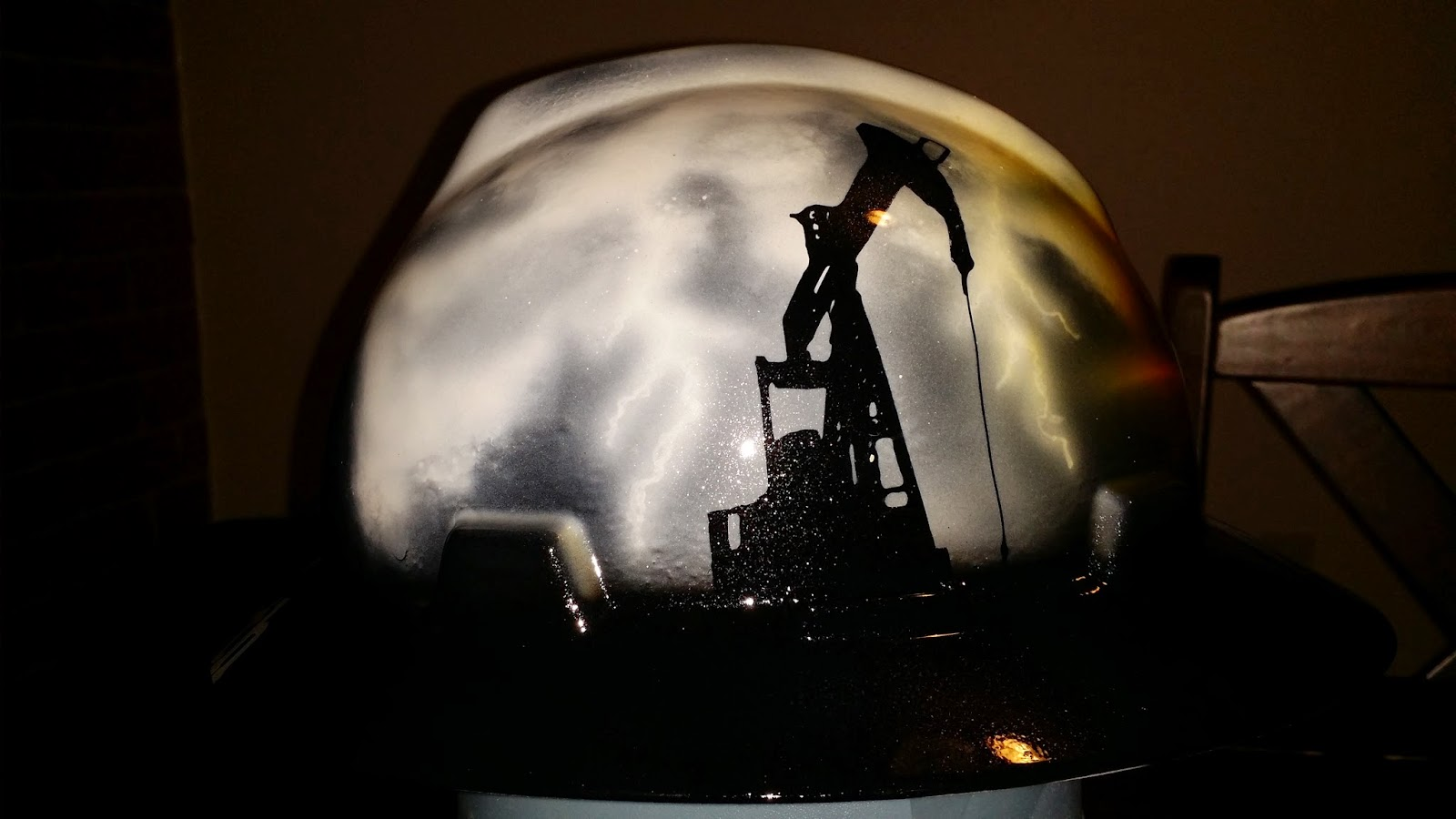 oilfield storm custom hard hat