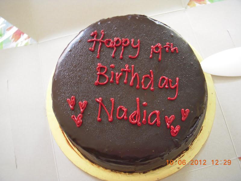 Happy Birthday Dear Nadia Cake