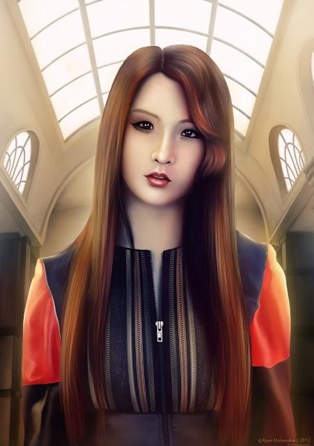 ryan mahendra, digital painting, potrait painting, jihyun, nam jihyun, ji hyun, nam ji hyun, nam g, 4minute