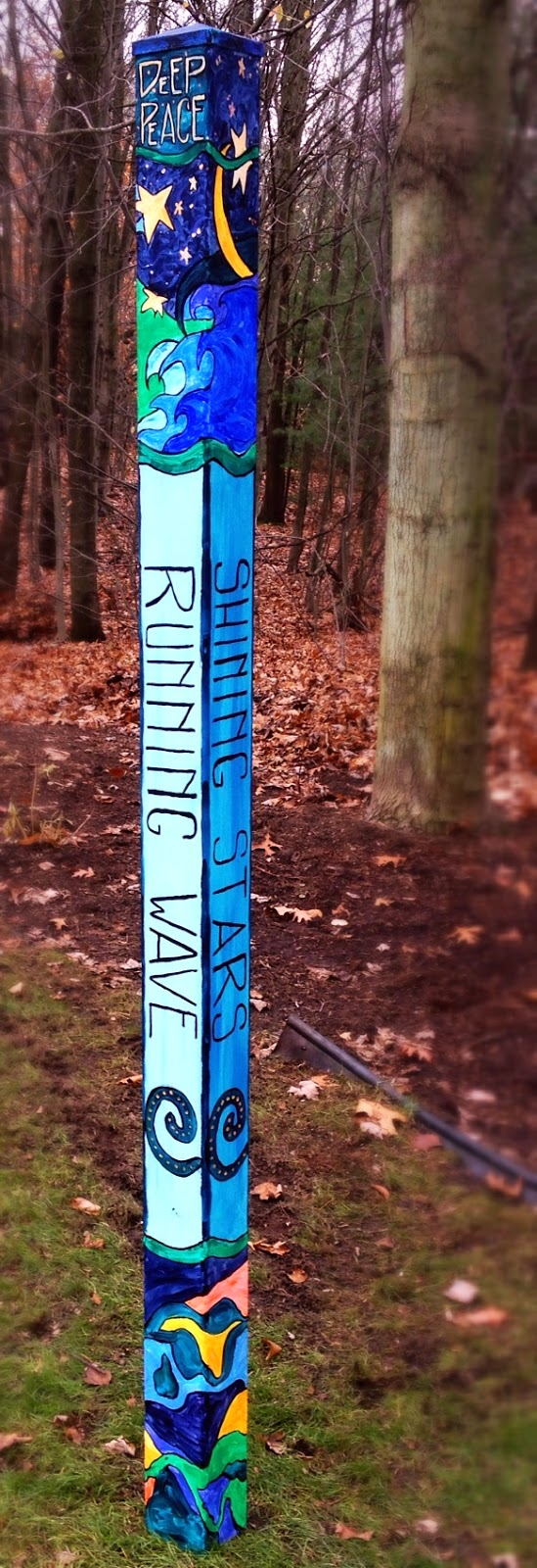 Scribbling With Spirit DIY Peace Pole for Garden Art