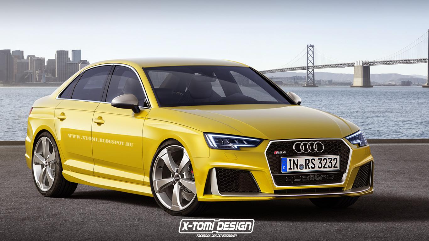 Седан Audi RS4. Неофициально от X-Tomi Design