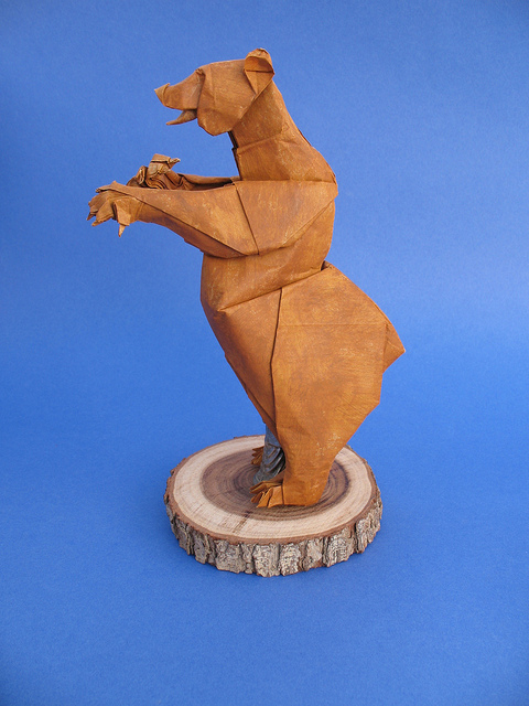 Origami Maniacs Grizzly Bear By Quentin Trollip Wolf