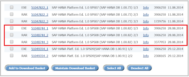 SAP HANA Installation media