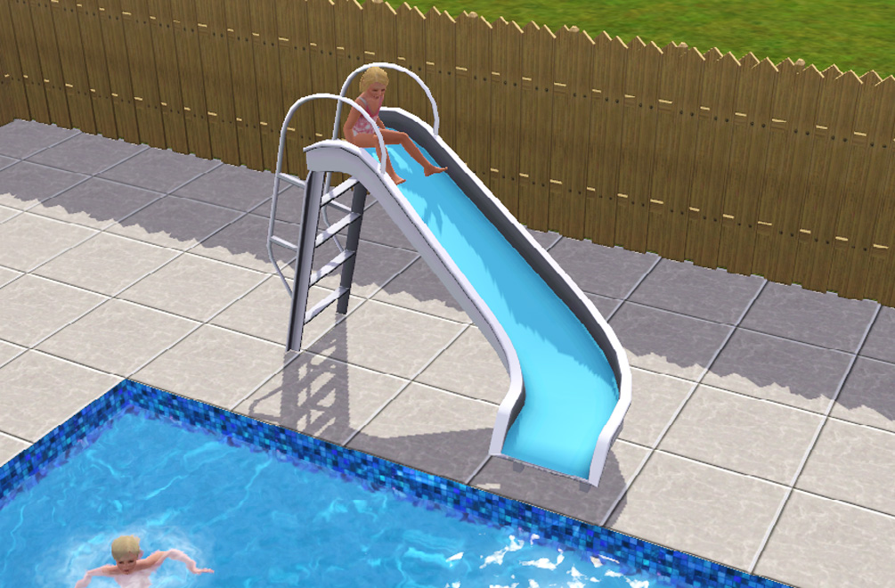 A simulated life a sims 3 pool slide download for Pool designs sims 4