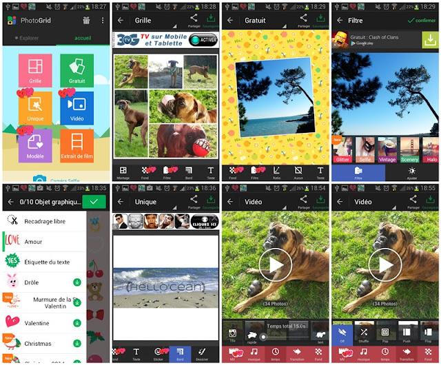 Android : mes applications photos préférées : PhotoGrid