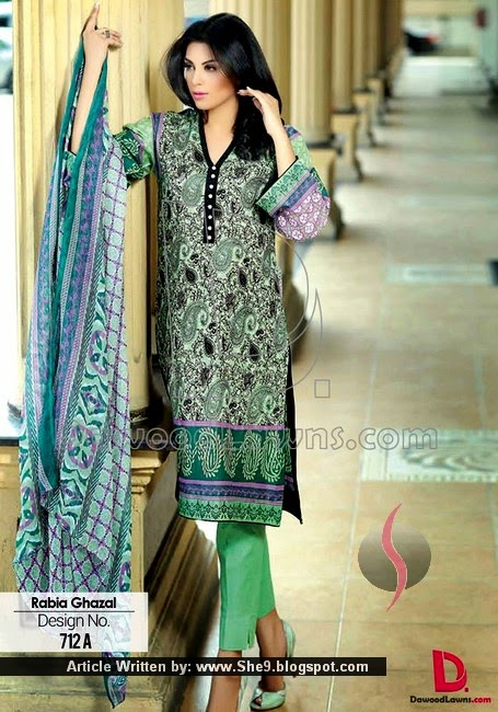 Rabia Gazal Embroidered Designer Lawn 2015 Vol-1