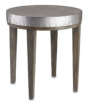 Perfect This Table Has A Very Industrial Look With The New Chic Look For Todayu0027s  Homes. This Medium Sized Accent Table Is Round With A Raw Metal ...