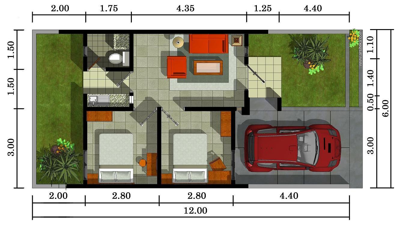 Model Dan Denah Rumah Minimalisype 72 Modern