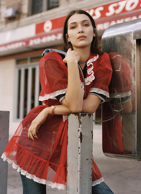 editorial : bella hadid by dan martensen for us elle february 2016