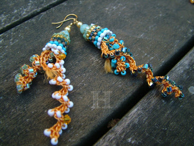 Beaded Crochet Earrings - ClearlyHelena