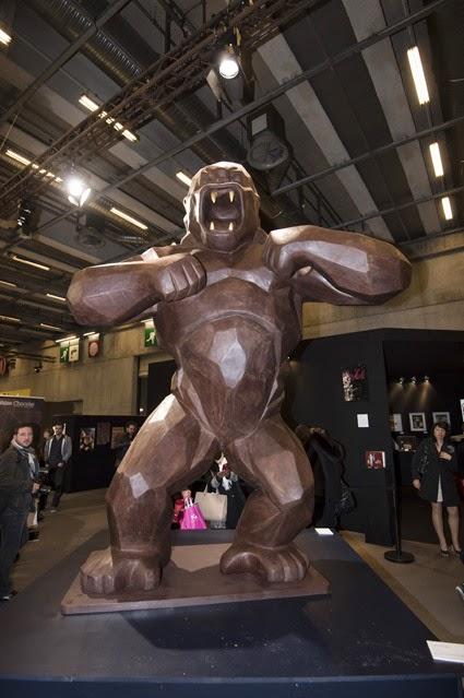 le Kong géant tout en chocolat  de Jean-Paul Hévin et Richard Orlinski