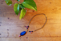 agate necklace handmade jewelry fashion